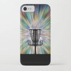 Disc Golf Basket Silhouette iPhone 7 Slim Case