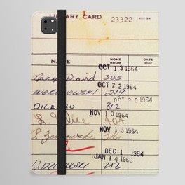 Library Card 23322 iPad Folio Case