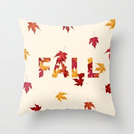 New England Fall Throw Pillow