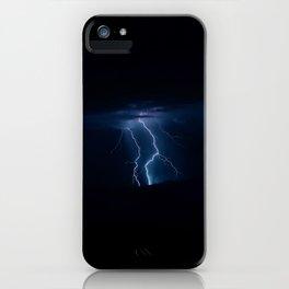 Lightning Strikes - III iPhone Case