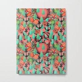 crab pattern Metal Print