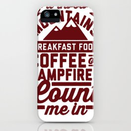 COUNT ME IN T-SHIRT iPhone Case