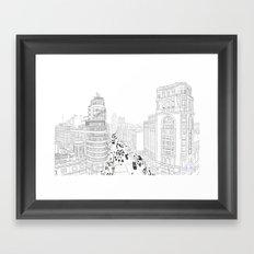 Gran Vía, Madrid Framed Art Print