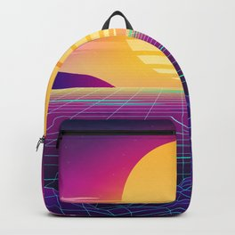 Classic Sunset Synthwave Backpack