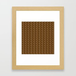 chimu monkey pattern Framed Art Print