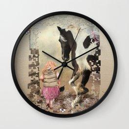 Princess Puddles and Sir Stamp Alot Wall Clock
