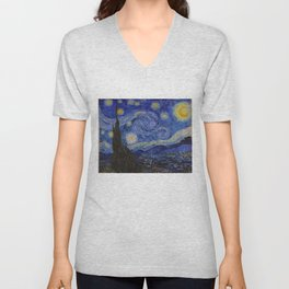 The Starry Night by Vincent van Gogh (1889) Unisex V-Neck