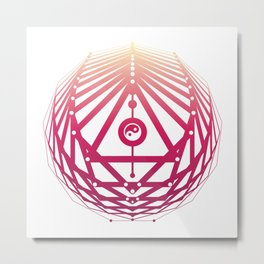 Radiant Abundance (white-sunrise) Metal Print