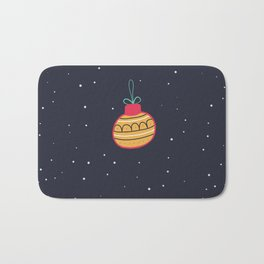 Merry Christmas and a Happy New Year Bauble Print Bath Mat