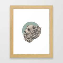 sage bear Framed Art Print