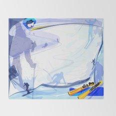 Downhill Skiing Throw Blanket