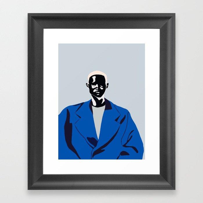 Blue coat Gerahmter Kunstdruck