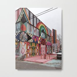 Psychedelic Building in Oklahoma City Metal Print