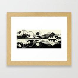 Black and White Land Framed Art Print
