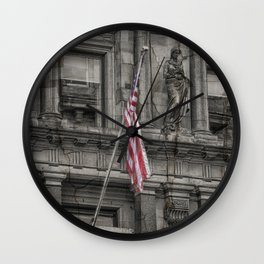 Set in Stone and Silk Wall Clock