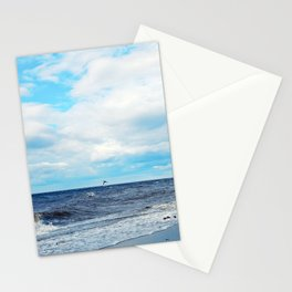Flying Across the Beach Stationery Cards