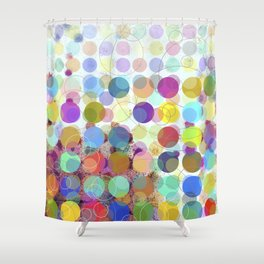Colorful Dots No. 1 Shower Curtain