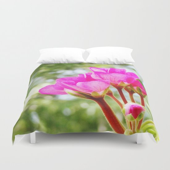 Pink FlOWERS Duvet Cover