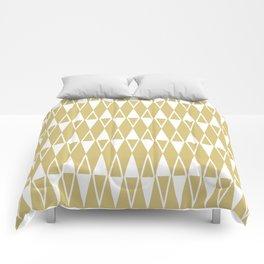 Mid Century Modern Diamond Pattern Gold 234 Comforters