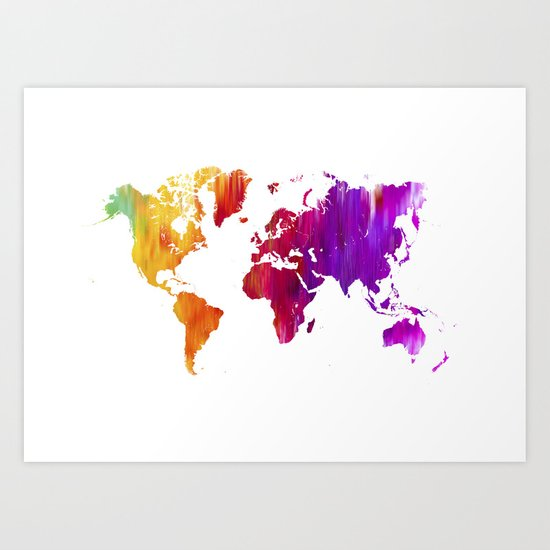 World filled with COLOR ! Art Print