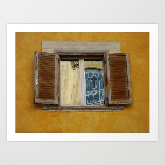 Roman Reflection Art Print