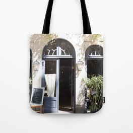 The Cafe is Open - Paris, France Tote Bag