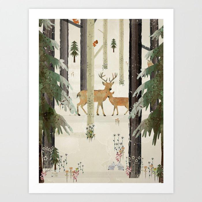 nature's way the deer Kunstdrucke