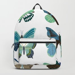 Green and Blue Butterflies Backpack