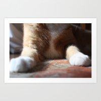 tigger Art Prints featuring Tigger by Erin Stevens