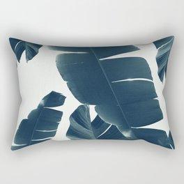 Banana Leaves Green Blue Vibes #2 #tropical #decor #art #society6 Rectangular Pillow