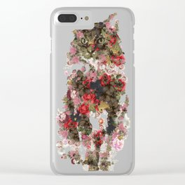 Portrait of a vintage cat  Discover Clear iPhone Case