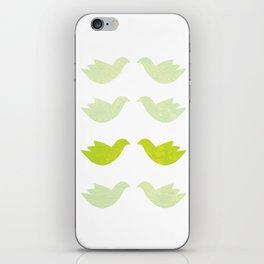 green love birds iPhone Skin