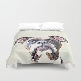 Brindle Boxer Dog Duvet Cover