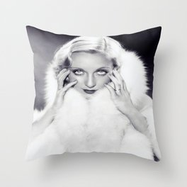 Classic Carole Lombard Throw Pillow