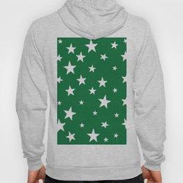 Hand-Drawn Stars (White & Olive Pattern) Hoody