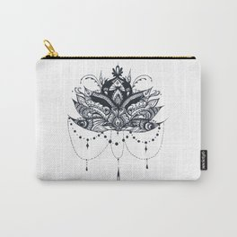 Lotus with Jewels Carry-All Pouch