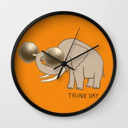 Trunk Day Wall Clock