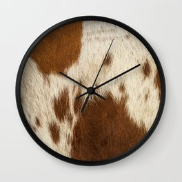 Pattern of a Longhorn bull cowhide. Wall Clock