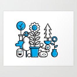 Garden in Blue Art Print