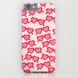 Heart Shaped Glasses iPhone Case