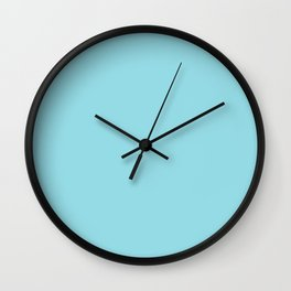 Tanager Turquoise Wall Clock