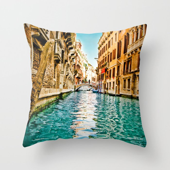 Streets of Venice Throw Pillow