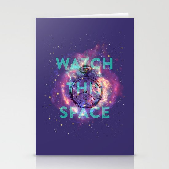 Watch this space Stationery Cards