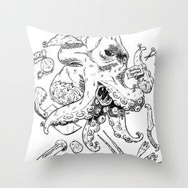 Monster Autopsy Throw Pillow
