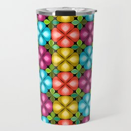 summer pop gouttelette flowers black Travel Mug