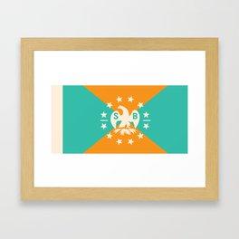 miami snowbird flag Framed Art Print