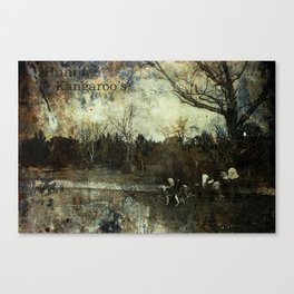Hunting Kangaroo's Canvas Print