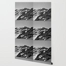 glacier end 3 kaunertal alps tyrol austria europe black white Wallpaper