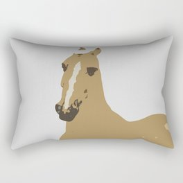 Abstract Palomino Horse Rectangular Pillow