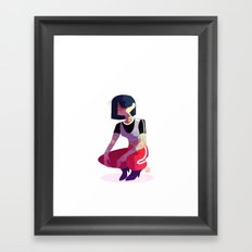 Tattoo girl Framed Art Print